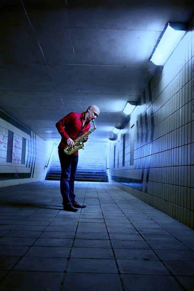 Saxophonist Dirk Eidner
